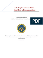 Report on the Implementation of SEC Organizational Reform Recommendations
