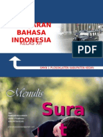 POWER POINT MATERI PELAJARAN MENULIS SURAT BAHASA INDONESIA SMK