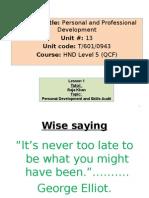 Lecture 1 - Personal Development