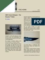 CRKT's Secret Weapon – The Hissatsu™ Folder
