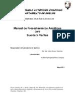 Manual de Procedimientos Analíticos para Suelos y Plantas
