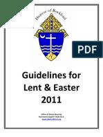 Lent & Easter Guidelines 2011