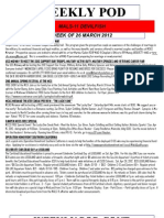 FRO WEEKLY PLAN OF THE DAY, THE WEEK OF 26 MARCH 2012