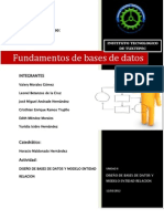 DISEÑO DE BASES DE DATOS Y MODELO ENTIDAD