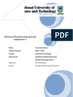 Advanced Manufacturing Systems Assignment 1 Farai
