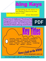 Thinking Keys in the classroom