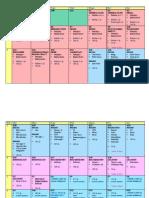 1st Aid Board Schedule