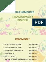 TRANSFORMASI 2 DIMENSI