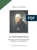 Federico II de Prusia - El Anti-maquiavelo