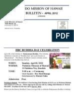 Jodo Mission of Hawaii Bulletin - April 2012