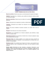 Glosario Sobre Terminologia en Cultura Fisica