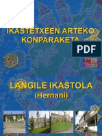 IKASTETXEEN ARTEKO KONPARAKETA Power Point