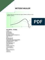 METODO MULLER