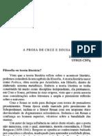 A Prosa de Cruz e Sousa