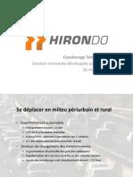 Hirondo, covoiturage dynamique développé par Senda
