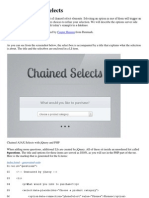 Chained AJAX Selects
