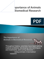 IMPORTANCE of Animals in Bio Medical Research