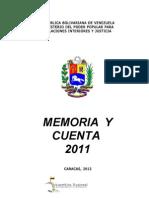 Memoria Cuenta 2011 MPPRIJ