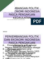 Perkembangan Politik Eko Indonesia Pac.pengakuan Kedaulatan