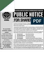 Unclaimed Public Notice