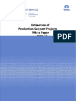 Production Support Estimation Whitepaper