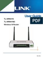 Router Tp Link Tl Wr841n