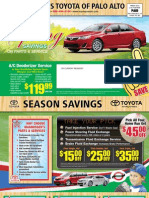 Magnussen's Toyota of Palo Alto 2012 Spring Savings on Parts & Service