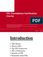 ITIL Foundations Certification Course