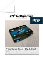 2N Net Speaker - Quick Start 1676 v1.0.0.3