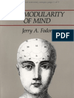 8263623 Modularity of Mind Jerry a Fodor