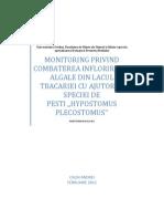 MONITORING PRIVIND COMBATEREA INFLORIRILOR ALGALE DIN LACUL TBACARIEI CU AJUTORUL SPECIEI DE PESTI ,,HYPOSTOMUS PLECOSTOMUS'' - Copy
