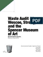 Waste Audit at the University of Kansas, Spring 2012