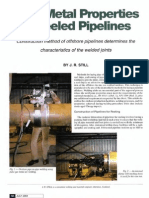 Weld Metal Properties of Reeled Pipelines