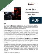 """Kompositionswettbewerb """"Neue Musi !"""" Ausschreibung und Formular"""