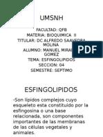 Expo Bioquima Esfingolipidos