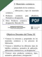 Tema 10 (Otros Prod Ceram) Materiales EUAT (II)