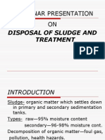 Disposal of Sludge and Treatment