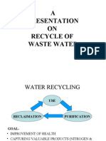 Recycle of Waste Water