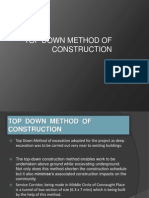 Top Down Method of Construction