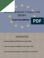 Badan-Badan Utama Uni Eropa