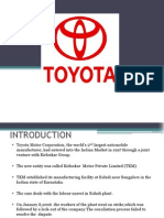 Ppt on Toyota
