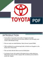 Ppt on Toyota