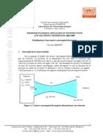 Modélisation d'une tuyère convergente-divergente