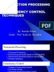 ADBMS-Transaction Processing and Con Currency Control RENUKA PAWAR
