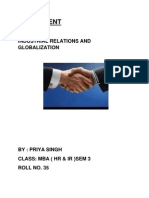 Industrial Relations and Globalization