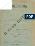 """""""Análisis de Vinos"""" de Vicente Laffitte 1892"""