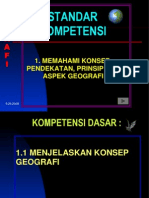 Konsep, Pendekatan Prinsip Dan Aspek Geografi