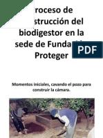 Proceso de construcción del biodigestor. Fundación Proteger