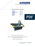 MultiCam 3000 CNC Router User Manual