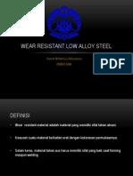 Wear Resistant Low Alloy Steel